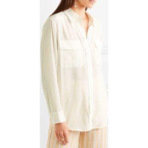 EQUIPMENT Off-White Signature Washed-Silk Shirt